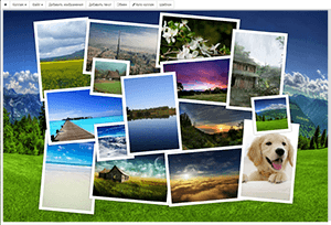 Collage Online 2020<br><br>Stylish collage or scattered on the table. Simple and Udobny editor.<br>